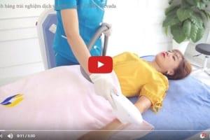 Cận cảnh cô gái Hà Thành triệt lông bằng công nghệ Nano Light