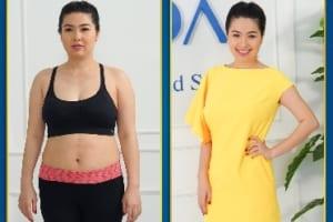 """Thân hình béo trục béo tròn sau sinh, diễn viên Lê Khánh """"đại chiến"""" với mỡ thừa nhờ """"vũ khí"""" không ai ngờ tới"""